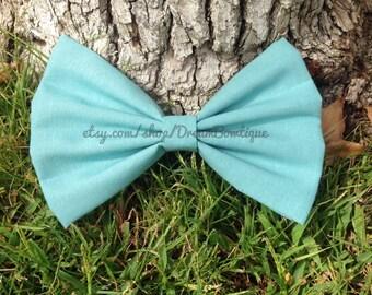 Blue Hair Bow, Dusty Blue Hair Bow