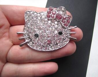 Opulent mega diamante rhinestone hello kitty cabochon flat back decoden jewellery phone cell supplies
