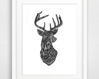 Buck-  Printable Art, Downloadable Print, Wall Print, Home Decor