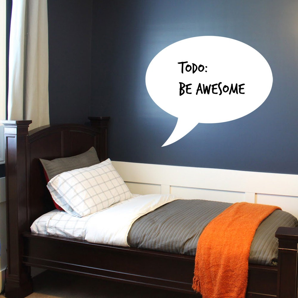 Dry Erase Speech Bubble by LighthouseDecals