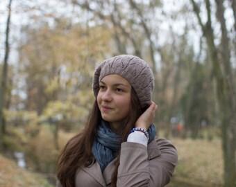 Womens Hat, Women's Knit Hats, Slouchy Hat, Winter Women's Hats Hand Knit Hat Women Beanie Hat Knit Winter Fashion beret