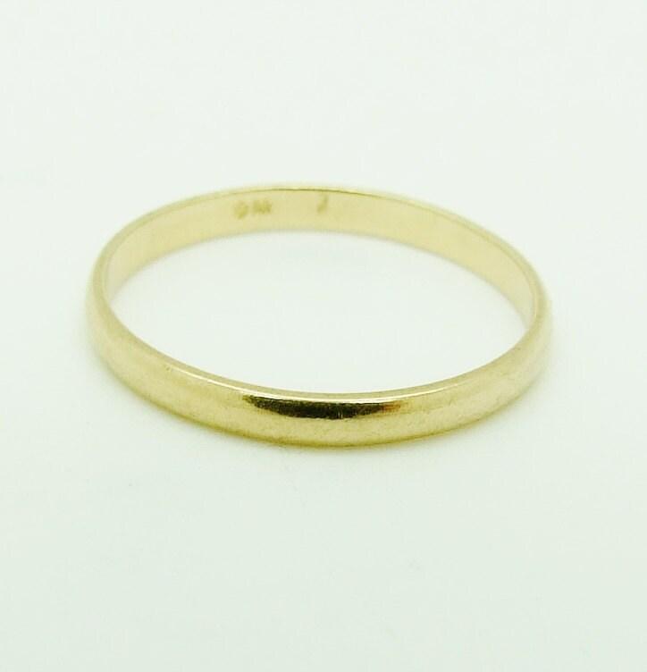 14K 14ct Gold 2mm Wedding Band Ring Size 5 1 2 K 1 2