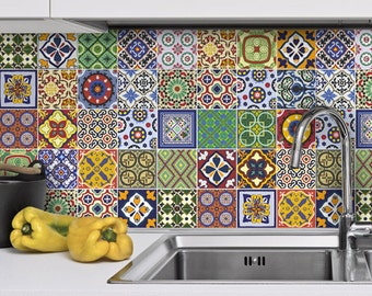 Kitchen Tiles Stickers traditional spanish tiles stickers tiles decals tiles for