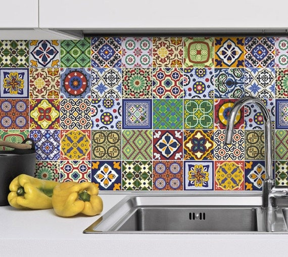 backsplash tiles talavera kitchen splashback tile stickers