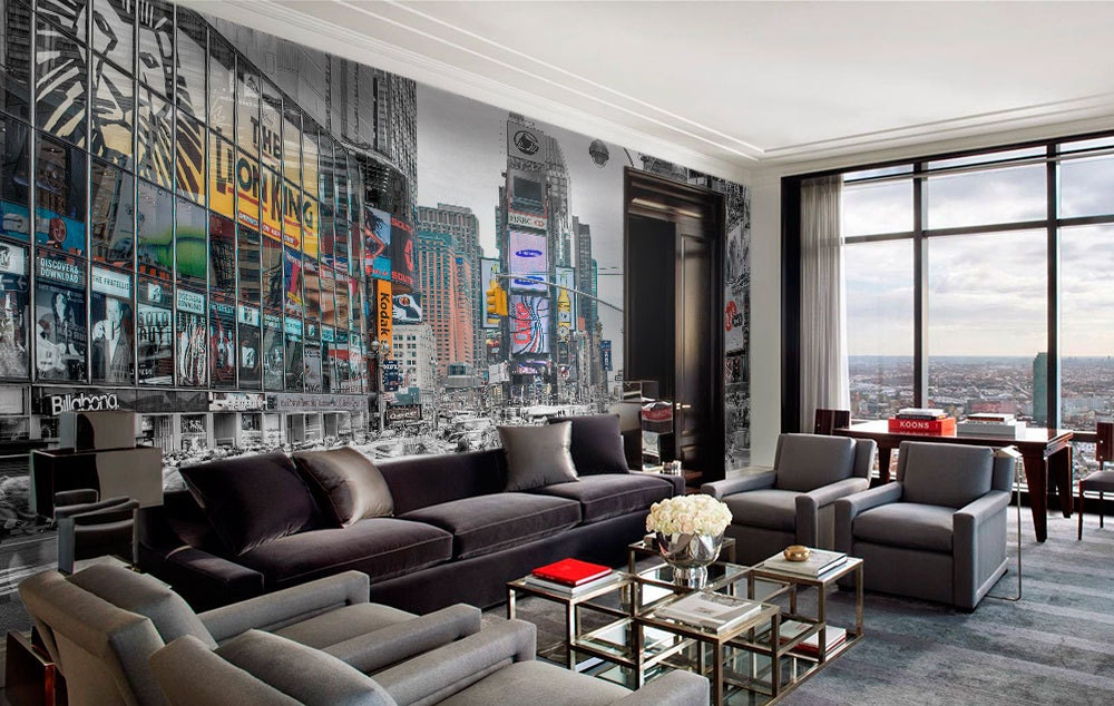 poster mural xxl new york free wall mural photo wallpaper. Black Bedroom Furniture Sets. Home Design Ideas