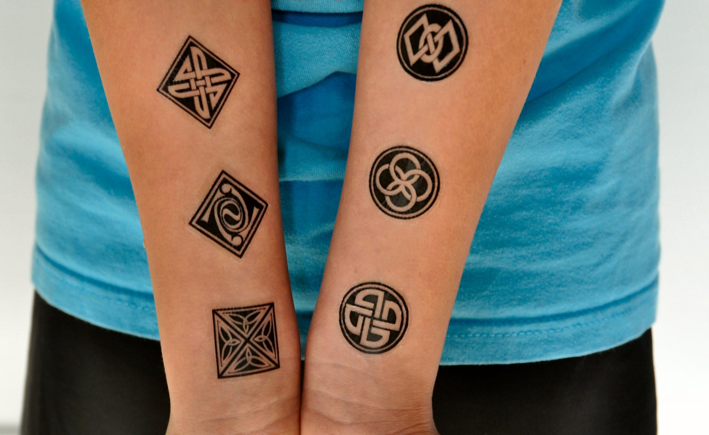1 2 Sleeve Tattoo Thai Symbols Images For Tatouage