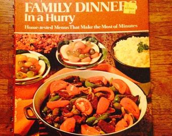 Betty Crocker Family Dinner in a Hurry 1970s