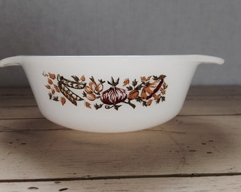 Le Bon Potager Fire King Anchor Hocking Milk Glass Sm Casserole