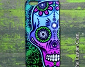 Sugar Skull Iphone Case, Day of The Dead Phone Case, Día de los Muertos Phone Case, Iphone 4/5/5c/6/6+, Samsung Galaxy S3/S4/S5/S6/S6 Edge