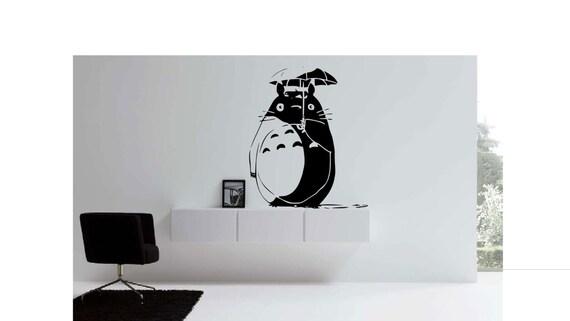 Totoro Umbrella Vinyl Wall Decal