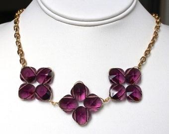 Amethyst Quatrefoils Necklace