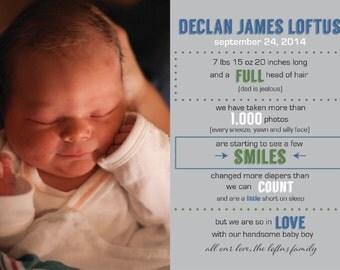 Baby Announcement, Birth Announcement