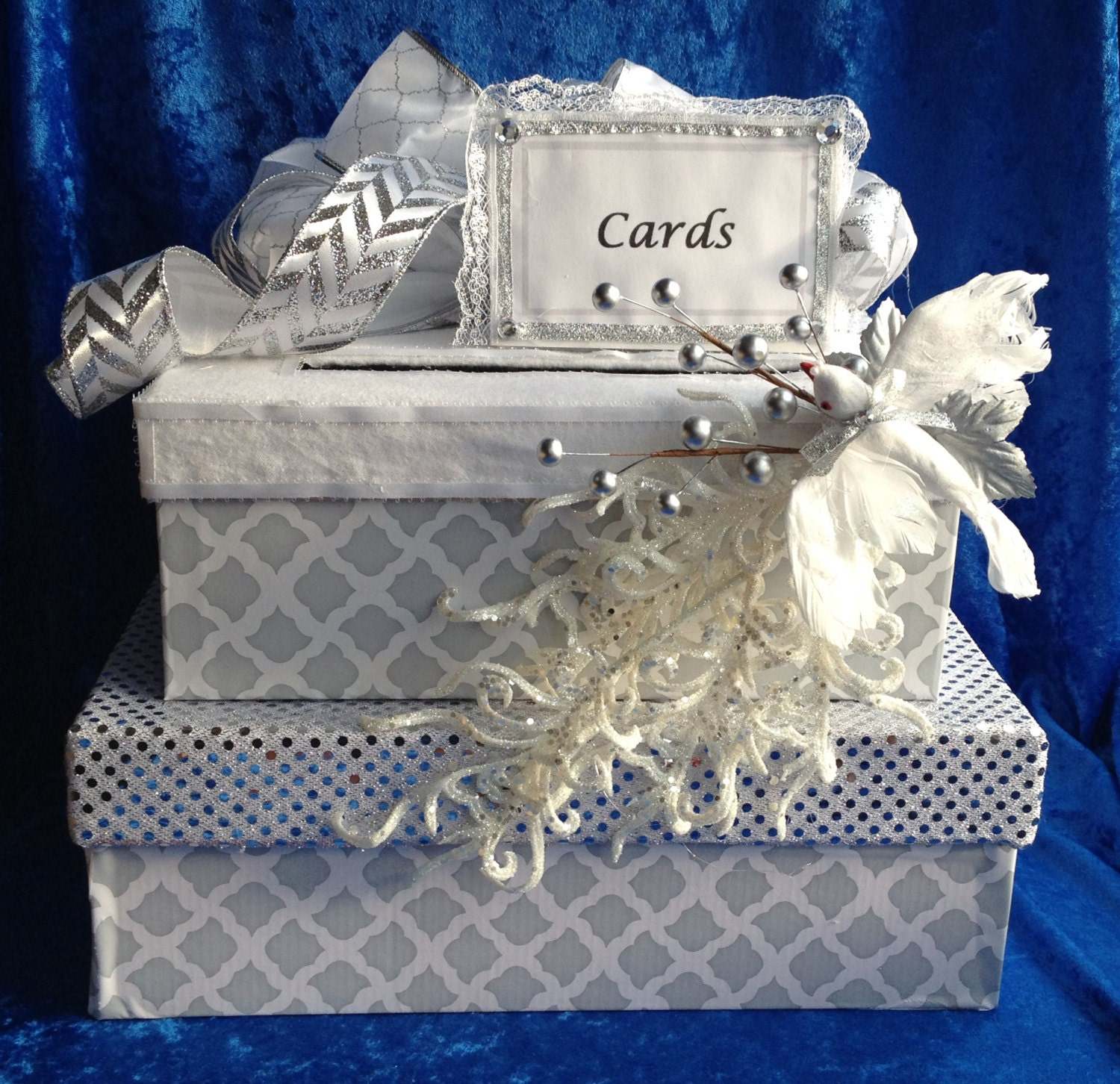 Gift Table At Wedding Reception: Wedding Card Boxwedding Reception Table Decorationcard