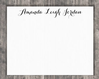 Personalized Stationary Card Set - Thank You, Hello, Names - Wedding / Shower / Birthday /