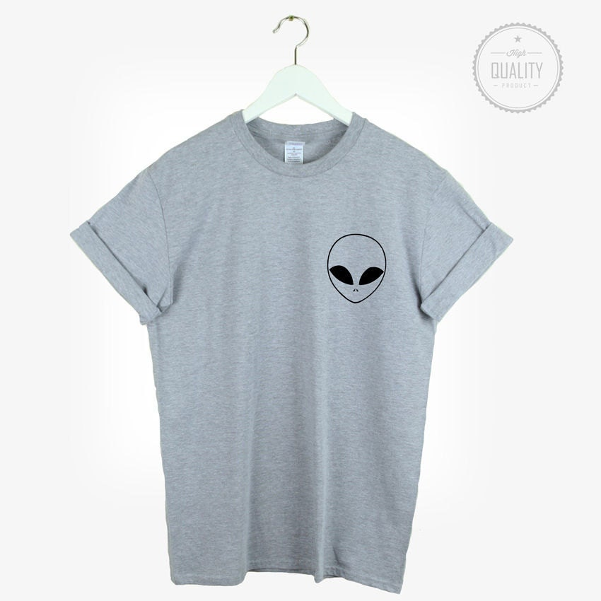 alien pocket t shirt shirt tee unisex mens womens tumblr. Black Bedroom Furniture Sets. Home Design Ideas