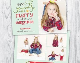 christmas card photo / christmas photo card / christmas photo template / merry christmas template / photo template photographers / PDF