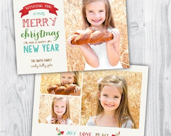 christmas photo template / christmas card photo / christmas photo card / merry christmas and happy new year / photo template photographers