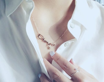Diana Cancer Necklace Horoscope Necklace The Crab Necklace 18K Rose Gold Necklace Charm Necklace Pendant Necklace Star Sign Necklace