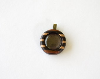 Pendant Blank - Pendant Tray - Handcrafted by ArtBASE - 20 mm - Brass Bail - (Z203-X) - Cab Included
