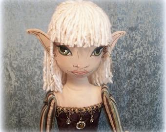 Persimmon - Cloth Doll - Elf Doll - Ooak Art Doll - Large Doll - Art Doll - Handmade - Collectible Art Doll - Renaissance Doll