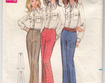 Vintage Sewing Pattern Butterick5641 Misses Trousers- Free Pattern Grading E-book Included