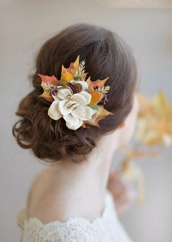Fall Hair Accessories Autumn Wedding Rustic Bridal