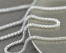 Sterling Silver Chain, Bubbles design, Made in Italy