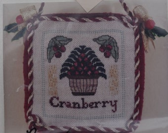 """Maureen Appleton Kit #57 - """"Cranberry Ornament""""  - Lovely Embroidery Kit With All Supplies Included"""