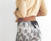 Starling Legging  - High Waist Legging - Black with Cream - by Simka Sol®