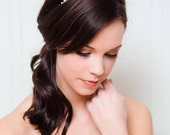 Gold Bridal Headband | Wedding Hair Accessories | Gold Crystal Wedding Hairband [Cleo Headband: Gold]