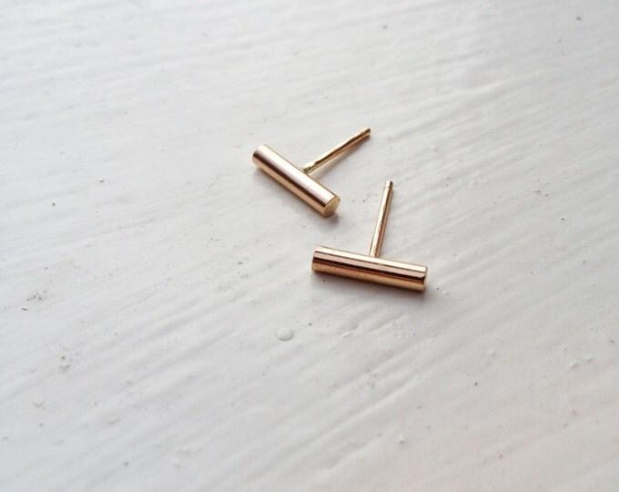 14K Gold Bar Earrings_New Horizons