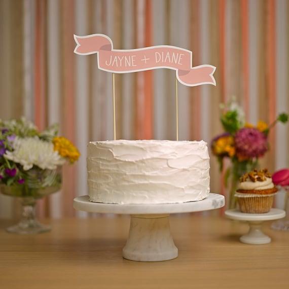 Custom Cake Banner No. 2 - Wedding Cake Topper