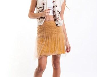 The Vintage Wool Blend Llama Llama Cardi Vest