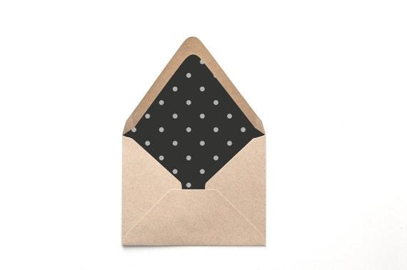 printable custom envelope liner template black and creme. Black Bedroom Furniture Sets. Home Design Ideas