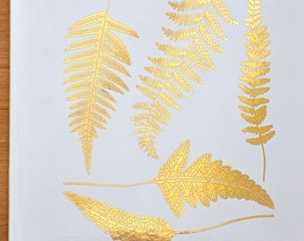 Modern Ferns Ceramic Decals, Glass Decals or Enamel Decals
