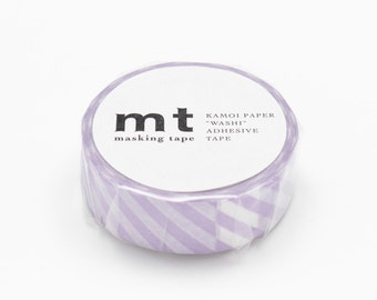 Stripe Lilac Tape, DECO Series, Japanese mt Washi Paper Masking Tape, Collage, Wrapping,  Adhesive Tape, Scrapbooking, Art Sticker, MT01D242