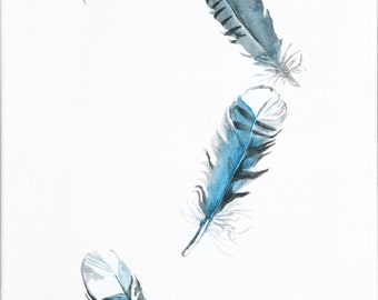 Falling Feathers 12x24 Print of Original Painting