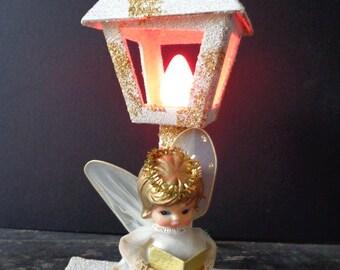 Lighted Christmas Angel, Vintage Christmas Decor, Vintage Angel
