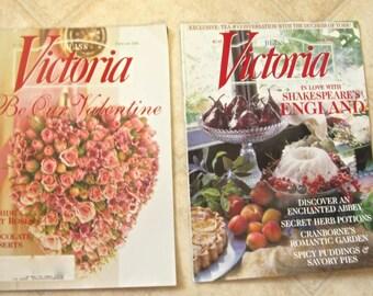 Victoria Magazine Two Issues of 2000 Good Housekeeping Valentine Scrapbook Embellishment