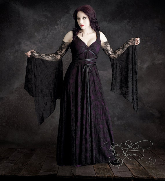 Willow garden fairy tale romantic lace wedding dress by for Plus size gothic wedding dress