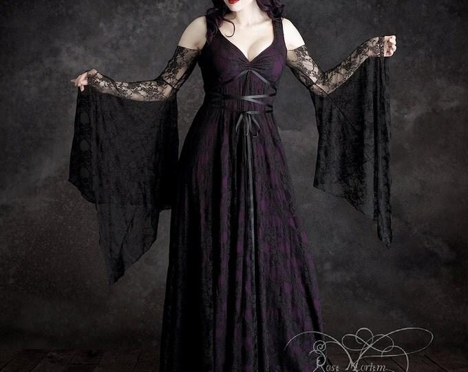 Willow Garden Fairy Tale Romantic Lace Wedding Dress - Handmade Bespoke Wedding Dress Dark Romantic Fairy Gothic Dress