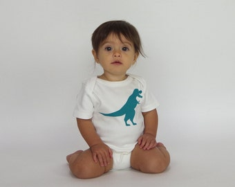 Dinos! T-rex | Organic Baby One Piece | Screen Printed Baby Clothing | Baby Bodysuit | Organic Baby Clothes | Infant One Piece | Baby Shirt