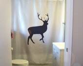 majestic stag Shower Curtain deer antler    king of the forest bathroom decor kids bath curtains custom size long wide waterproof