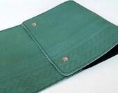 Vintage Chyrsler Drumstick Bag - Emerald Green- Made of 1979 Car Seat Vinyl