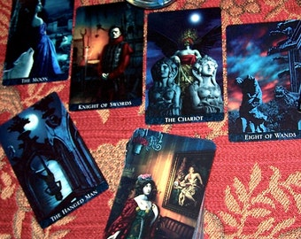 Victorian Tarot Reading, Gothic Tarot Card Reading, 6-Card Reading