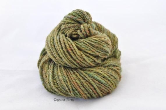 Variegated Merino Handspun Yarn | Handspun Merino Yarn | Green Handspun Yarn | Variegated Green Yarn | Handspun Merino Wool