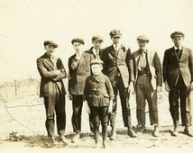 "Vintage Photo ""The Trouble Makers"" Young Boys Group Snapshot Photo Antique Photo Black & White Photograph Found Photo Paper Ephemera - 88"