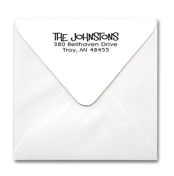 CUSTOM Self Inking Personalized Return Address Stamp