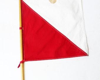 Original Antique WWII Semaphore Signal Flag