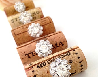 wine cork place card holder wedding place card holders bling wedding decor winery